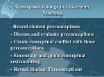 conceptual change in classroom teaching