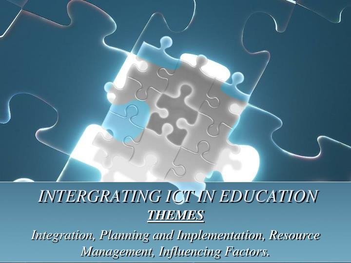 intergrating ict in education n.