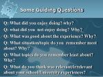 some guiding questions