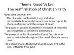 theme good vs evil the reaffirmation of christian faith