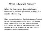 what is market failure