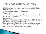 challenges on the journey