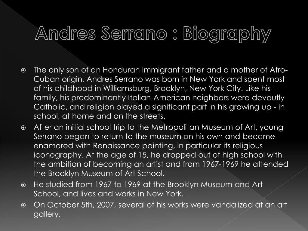 PPT - Andres Serrano PowerPoint Presentation - ID:2249352