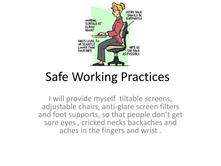 safe working practices n.