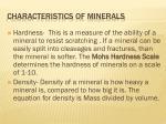 characteristics of minerals2