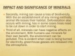 impact and significance of minerals2