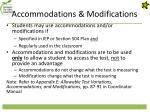 accommodations modifications