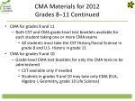 cma materials for 2012 grades 8 11 continued