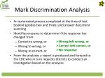 mark discrimination analysis