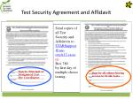 test security agreement and affidavit