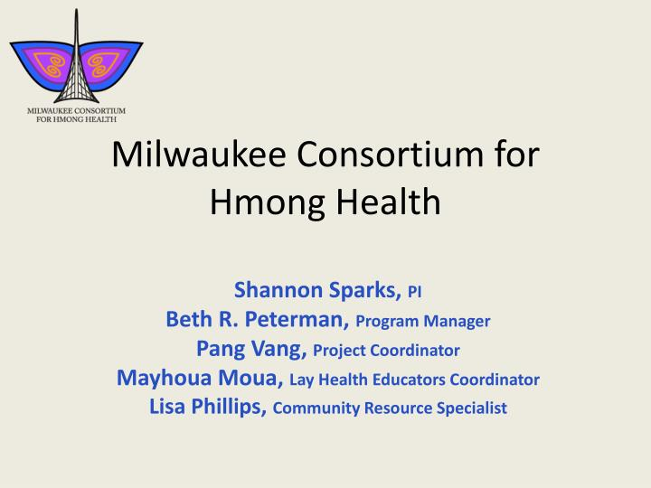 milwaukee consortium for hmong health n.