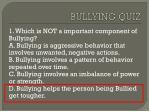 bullying quiz