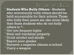 people who bully