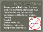 student s who witness