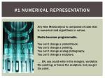 1 numerical representation