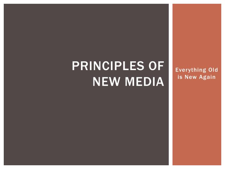 principles of new media n.