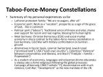 taboo force money constellations