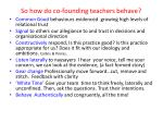 so how do co founding teachers behave