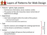 layers of patterns for web design