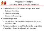 objects design lessons from donald norman