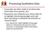 processing qualitative data