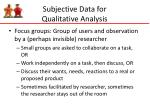subjective data for qualitative analysis1