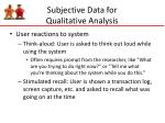 subjective data for qualitative analysis2