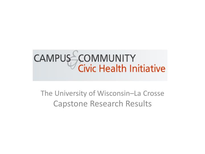 the university of wisconsin la crosse capstone research results n.