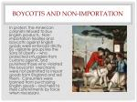 boycotts and non importation