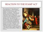 reaction to the stamp act