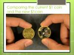 comparing the current 1 coin and the new 1coin