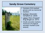 sandy grove cemetery