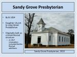 sandy grove presbyterian