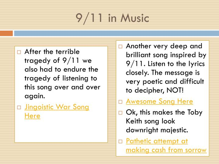 9/11 in Music