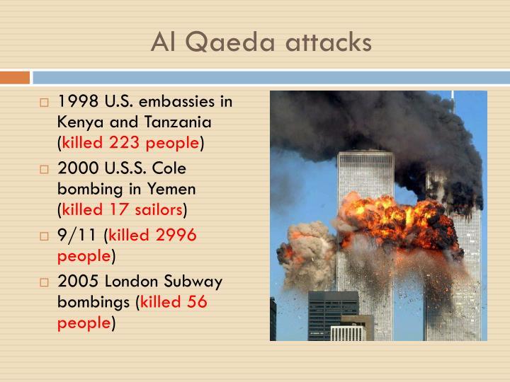 Al Qaeda attacks