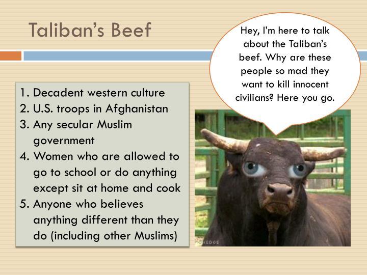 Taliban's Beef