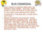 bus dismissal