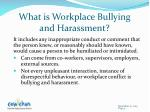 what is workplace b ullying and harassment