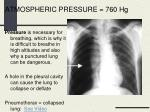 atmospheric pressure 760 hg