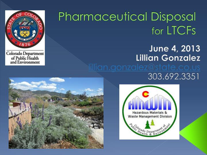 pharmaceutical disposal for ltcfs n.