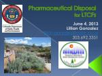 pharmaceutical disposal for ltcfs