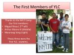 the first members of ylc