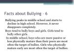 facts about bullying 6