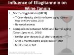 influence of ellagitannnin on wine tannin3