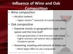 influence of wine and oak composition