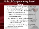 role of oxygen during barrel aging