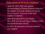 education of jewish children