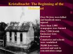kristallnacht the beginning of the holocaust