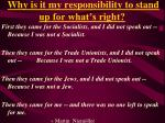 why is it my responsibility to stand up for what s right