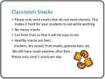 classroom snacks